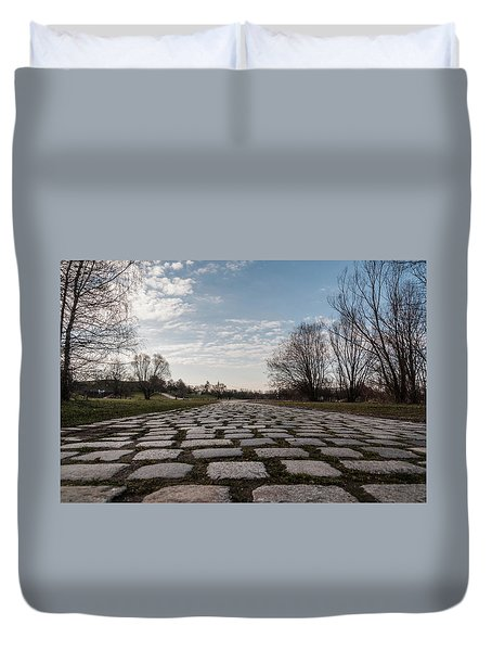 Cobble-stones Duvet Cover by Sergey Simanovsky