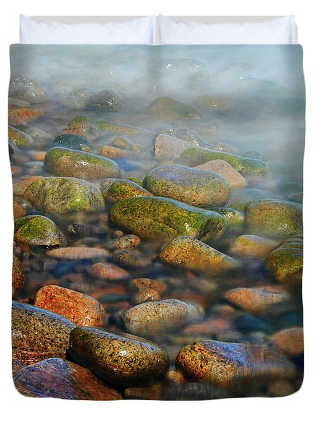 Cobblestone Beach Duvet Cover