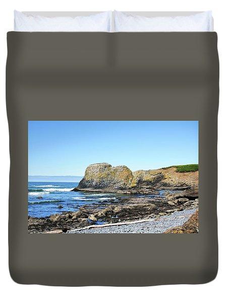 Cobblestone Beach Duvet Cover