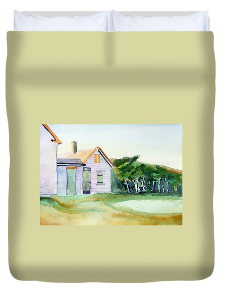 Cobb's House After Edward Hopper Duvet Cover