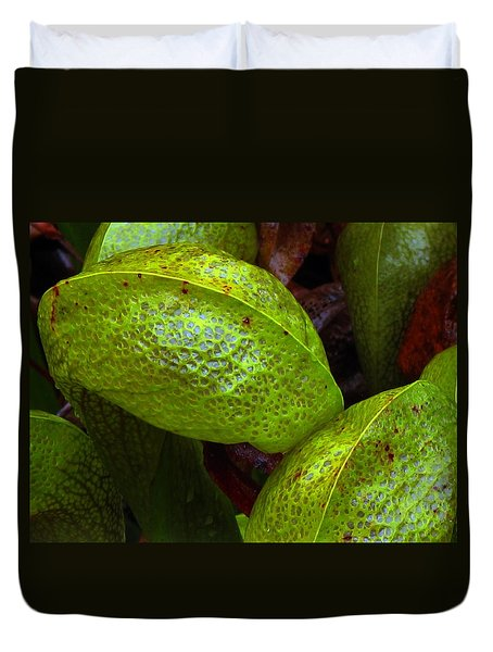 Duvet Cover featuring the photograph Cobra Lily Love by Suzy Piatt