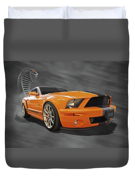Cobra Power - Shelby Gt500 Mustang Duvet Cover