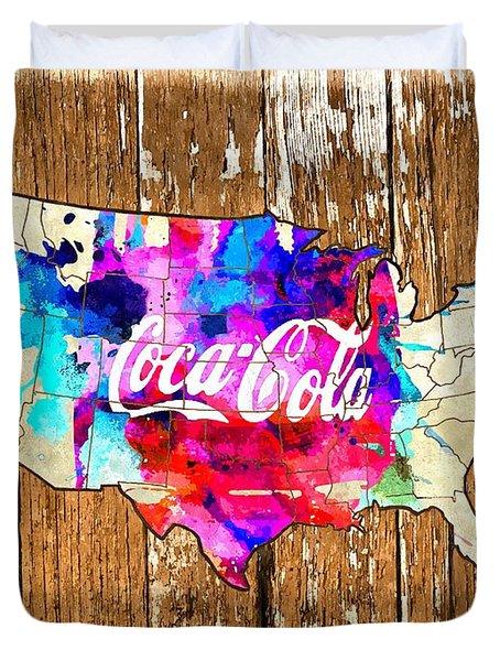 Coca Cola America Duvet Cover