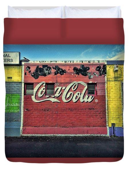 Coca-cola Building Duvet Cover