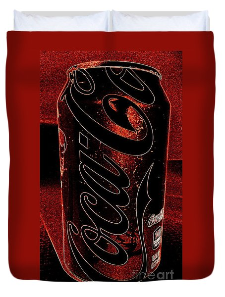 Coca Cola Can Coin Safe Duvet Cover