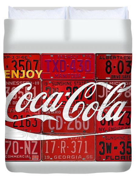 Curtains Ideas coca cola shower curtain : Coca Cola Enjoy Soft Drink Soda Pop Beverage Vintage Logo Recycled ...