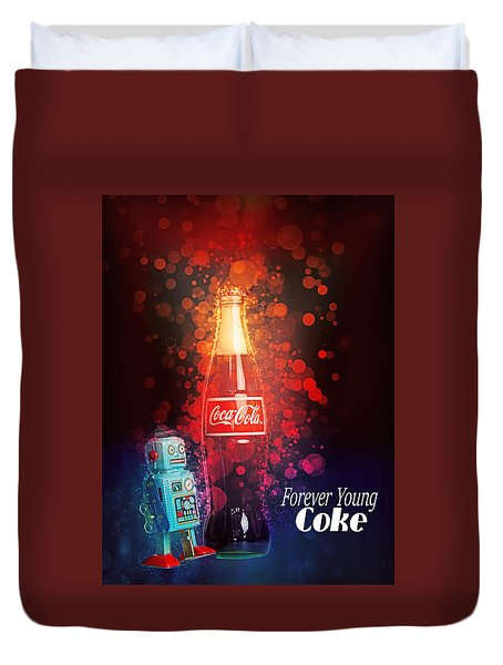 Coca-cola Forever Young 15 Duvet Cover