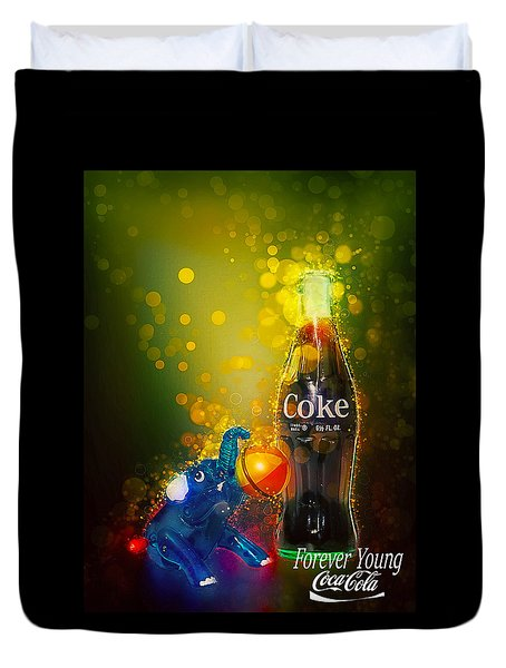 Coca-cola Forever Young 3 Duvet Cover