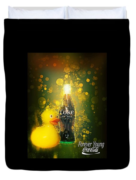 Coca-cola Forever Young 5 Duvet Cover