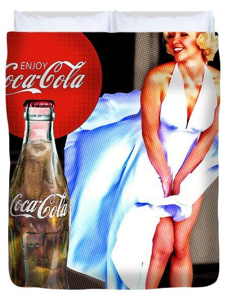 Coca Cola Girl Marilyn Duvet Cover
