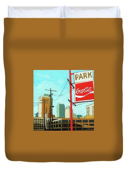 Coca Cola Park Duvet Cover
