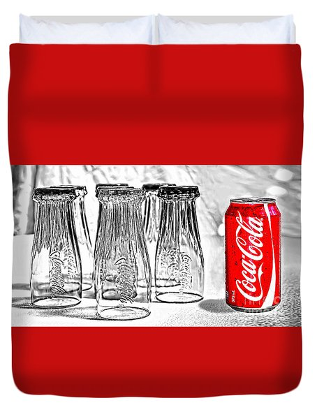 Coca-cola Ready To Drink By Kaye Menner Duvet Cover