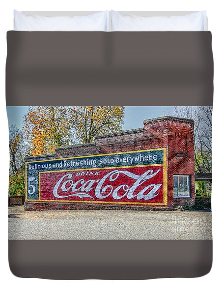 Coca-cola Retro Duvet Cover by Marion Johnson