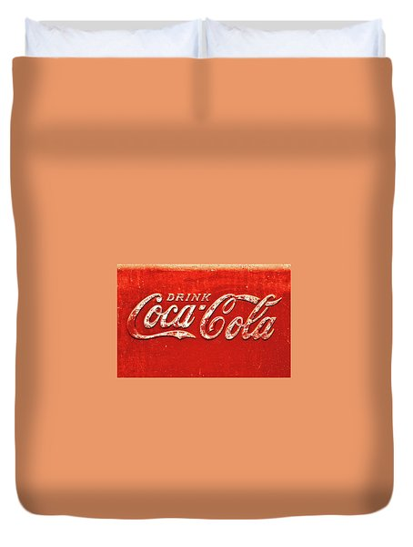 Coca Cola Rustic Duvet Cover by Stephen Anderson