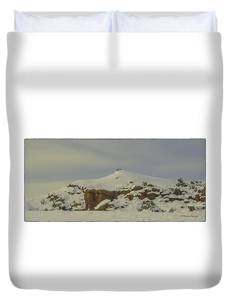 Duvet Cover featuring the photograph Cochiti Snow by R Thomas Berner