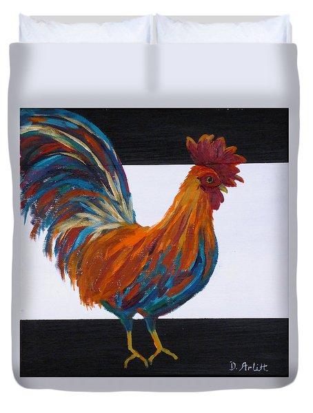 Cock-a-doodle-doo Duvet Cover