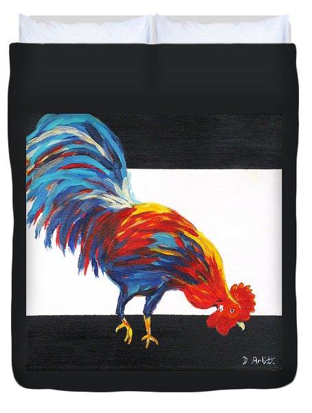 Cock-a-doodle-doo-too Duvet Cover