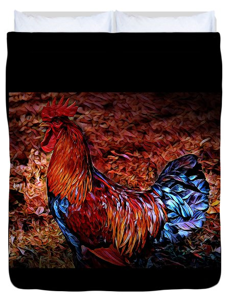 Cock Rooster Duvet Cover