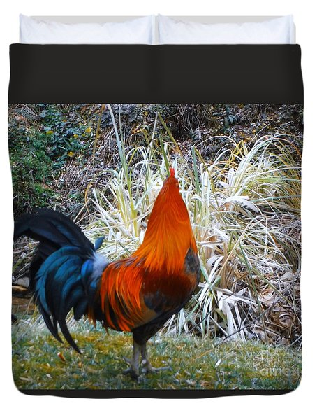 Cock Walk II Duvet Cover