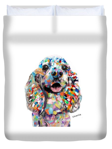 Cocker Spaniel Head Duvet Cover