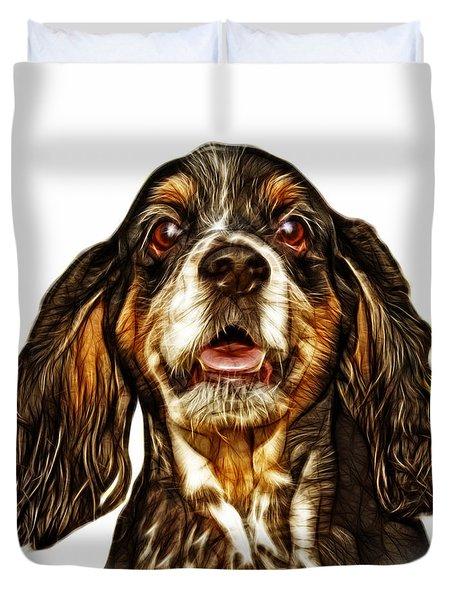 Cocker Spaniel Pop Art - 8249 - Wb Duvet Cover