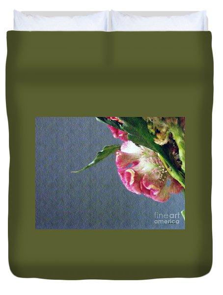Duvet Cover featuring the photograph Cockscomb Bouquet 6 by Sarah Loft