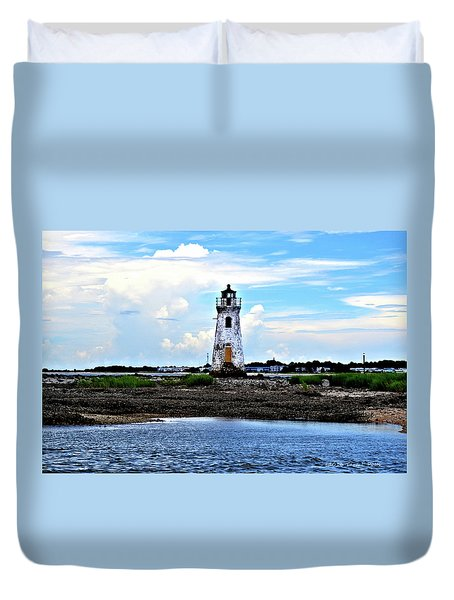 Cockspur Lighthouse Duvet Cover