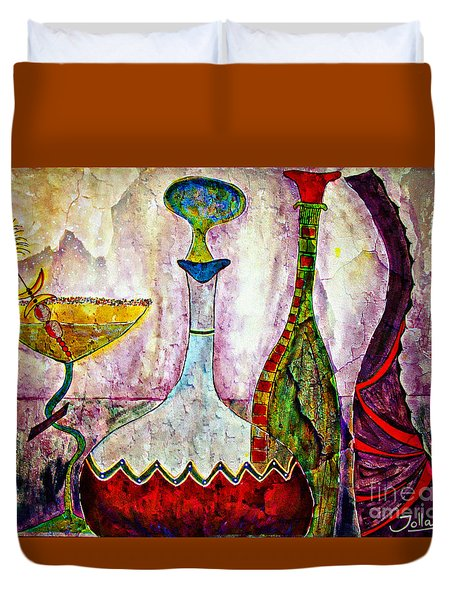 Cocktail And Wine Duvet Cover