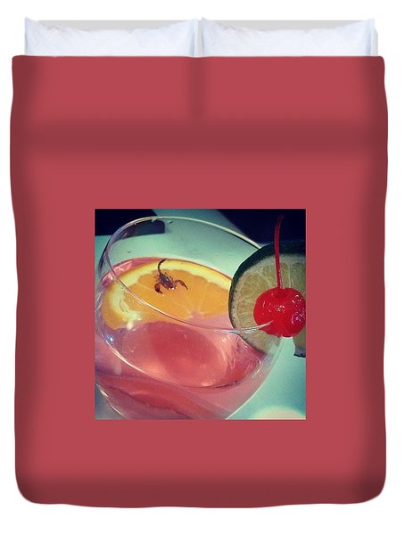Cocktail With A Bite Duvet Cover by Sacha Kinser