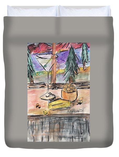 Cocktail At Tahoe  Duvet Cover
