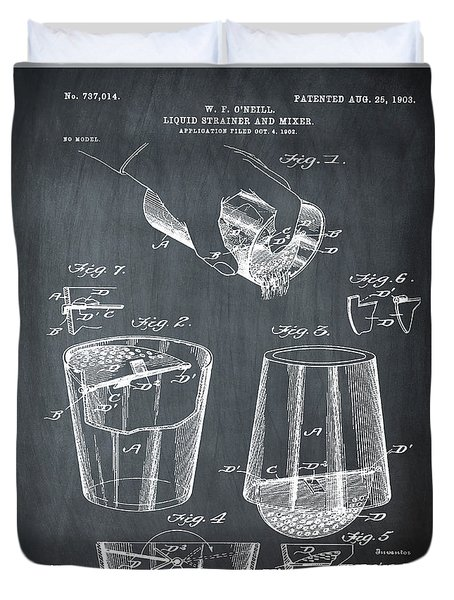 Cocktail Mixer Patent 1903 In Chalk Duvet Cover