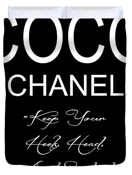Coco Chanel Quote 2 Duvet Cover
