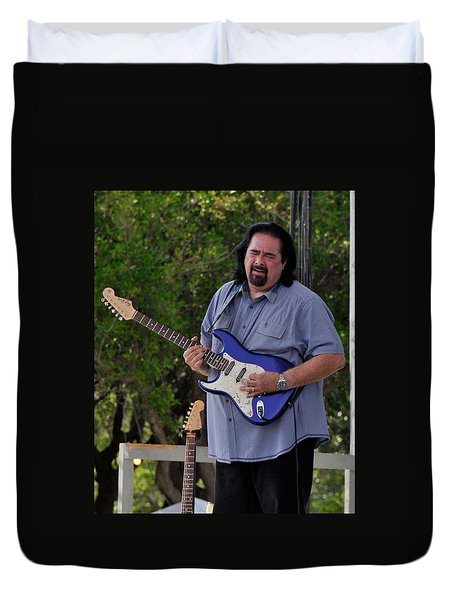 Coco Montoya And His Ocean Blue Fender American Standard Stratoc Duvet Cover