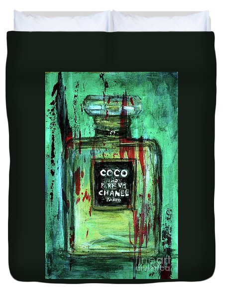 Duvet Cover featuring the painting Coco Potion by P J Lewis