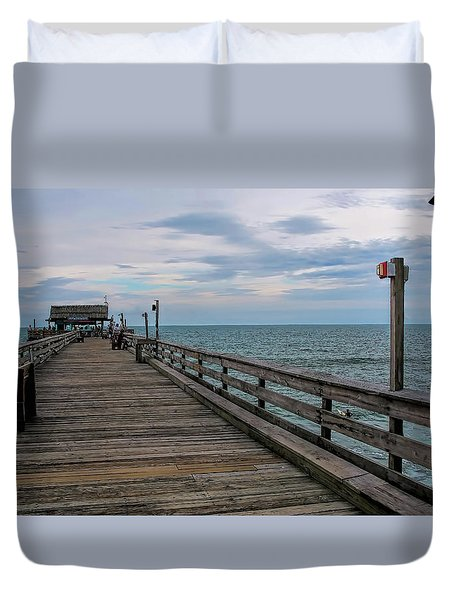 Cocoa Beach  Duvet Cover by Pat Cook