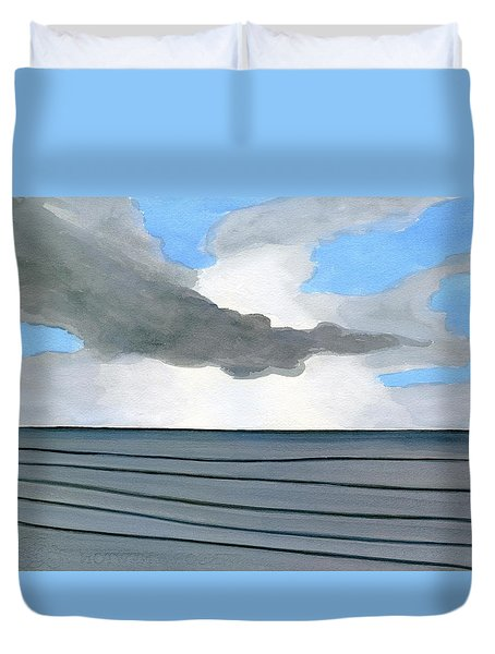 Cocoa Beach Sunrise 2016 Duvet Cover by Dick Sauer