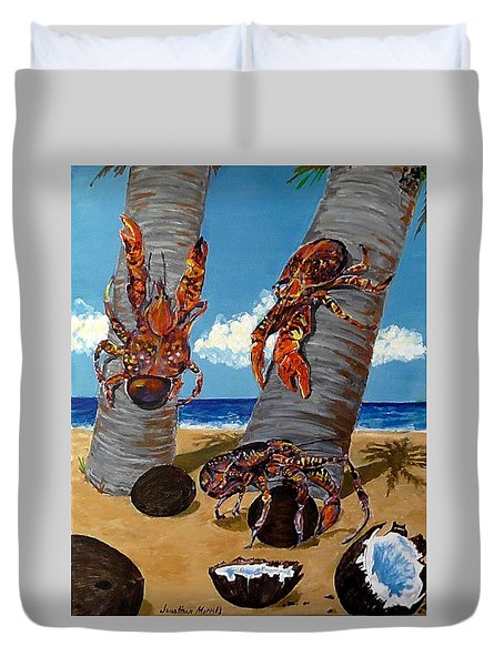 Coconut Crab Cluster Duvet Cover