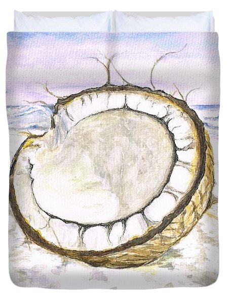 Coconut Island Duvet Cover by Teresa White