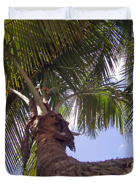 Coconut Palm Duvet Cover