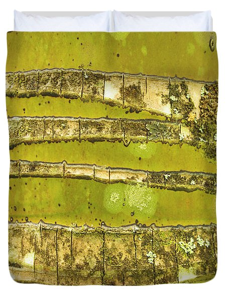 Coconut Palm Bark 1 Duvet Cover by Brandon Tabiolo - Printscapes