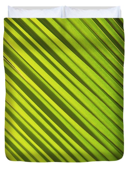Coconut Palm Duvet Cover by Brandon Tabiolo - Printscapes