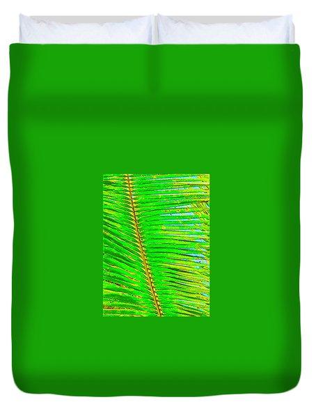 Coconut Palm Leaf Aloha Duvet Cover