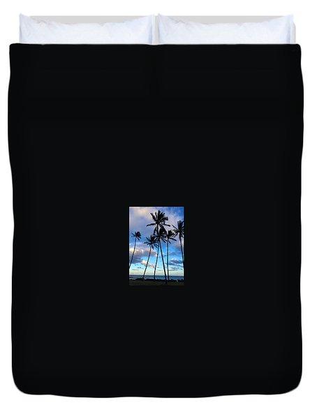 Coconut Palms Duvet Cover by Brenda Pressnall