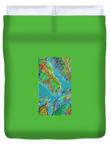 Coconut Palms Psychedelic Duvet Cover