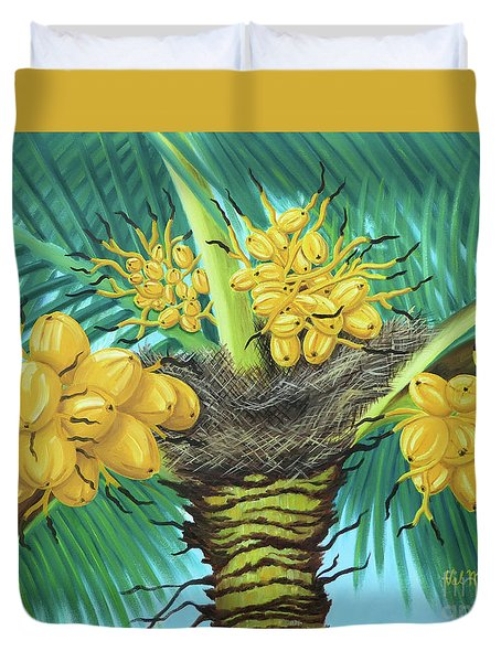 Coconut Palms Duvet Cover