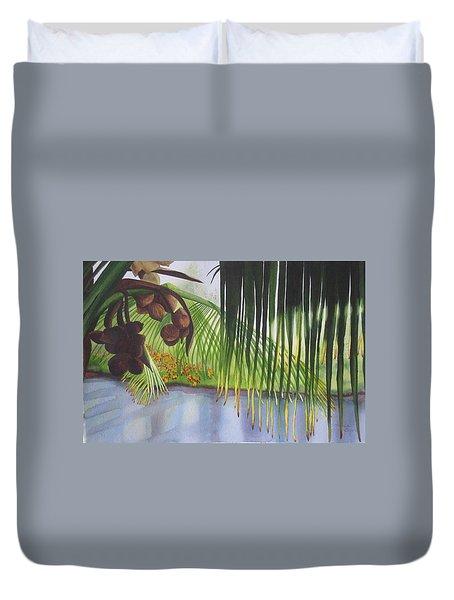 Coconut Tree Duvet Cover by Teresa Beyer