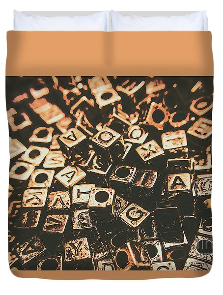 Code Breakers Analogy Duvet Cover