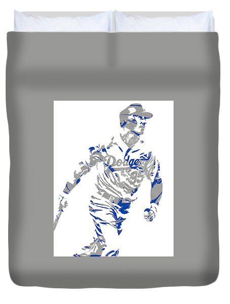 Cody Bellinger Los Angeles Dodgers Pixel Art 1 Duvet Cover