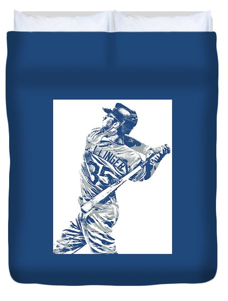 Cody Bellinger Los Angeles Dodgers Pixel Art 10 Duvet Cover