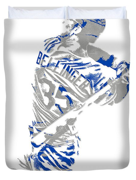 Cody Bellinger Los Angeles Dodgers Pixel Art 2 Duvet Cover